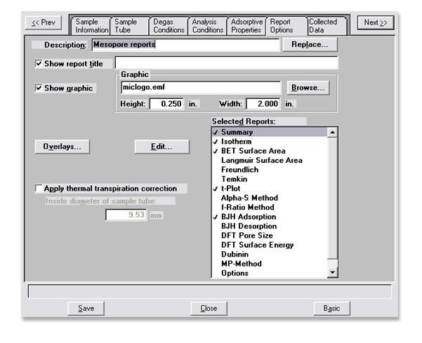 ASAP 2420 Software and Data Presentations | Micromeritics